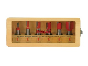 freud straight router bit set