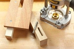 cutting mortise wood router